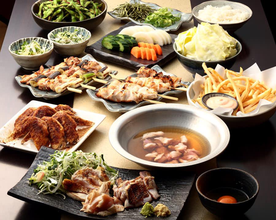 とりいちず酒場 経堂店の鶏料理を満喫できる〈食べ放題×飲み放題コース〉
